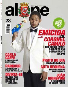 Fizemos a produção de Emicida, o artista que está em super destaque, fazendo o maior sucesso... Para a capa de uma revista da edição de março.  Ficou bem bonito, não acham?