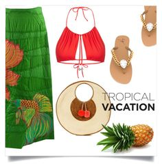"""""""Welcome to paradise: tropical vacation"""" by xaia on Polyvore featuring La Perla, Giuseppe Zanotti and Sophie Anderson"""