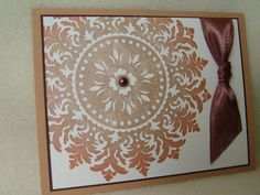 Stampin' Up Set: Medallion  I like the different color ink around the edges...