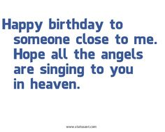 Birthday in Heaven...i will have to remember this for  next year!!
