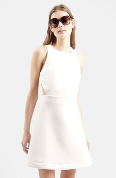 Topshop+Textured+A-Line+Dress+available+at+#Nordstrom