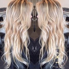 long+wavy+blonde+hairstyle+for+thin+hair
