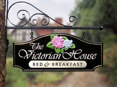 Victorian Bed, Victorian Homes, B & B, French Country Cottage, Breakfast In Bed, Shop Signs, Signage, Property Signs, Farmhouse Bed