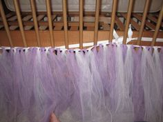 My Crazy Life...: Tu-tu Tulle Crib Skirt