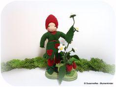 Jahreszeitentisch - Walderdbeere Blumenkinder Jahreszeitentisch - ein Designerstück von susannelfe bei DaWanda