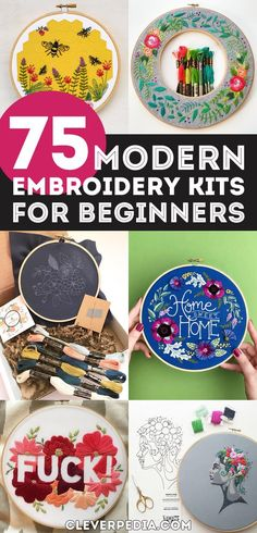 Modern Embroidery Kits for Beginners | Embroidery is a traditional craft that has seen a big resurgence in recent years. Modern embroidery isn't your grandmother's embroidery... these days, there is a lot more looseness and expression in the craft. Kits are perfect for trying out a new craft because they are thoughtfully curated with everything you need to get started. They also make great gifts for women who love DIY! Check out this massive list of modern embroidery kits perfect for…