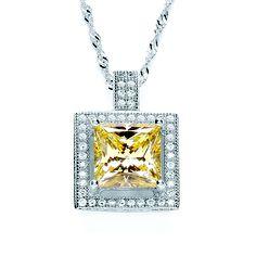BOUTON princess yellow pendant necklace