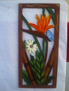fotos.facilisimo.com, comparte los recuerdos en foto de tus mejores momentos Wooden Art, Wooden Crafts, Clay Crafts, Arts And Crafts, Wood Glass Door, Cold Porcelain Flowers, Garden Deco, Inspirational Wall Art, Mural Art