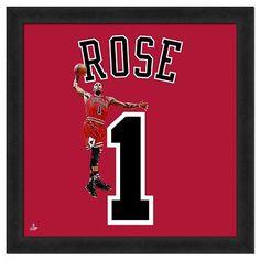 Chicago Bulls Derrick Rose Framed Jersey Photo