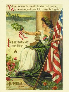 Vintage Reprint Memorial Day Postcard | Flickr - Photo Sharing!