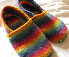 make your own slippers from old sweaters