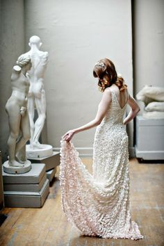 inspiration | gowns worthy of an artist's musing | Emma Gown from BHLDN | alison conklin photography | via: 100 layer cake