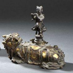 Qilin en bronze partiellement doré | Vendu 6200€ le 19 décembre 2015 I Daguerre