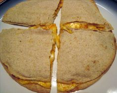 Buffalo Chicken Quesadillas from Food.com:   Great for lunch, a light dinner or for your football get togethers.