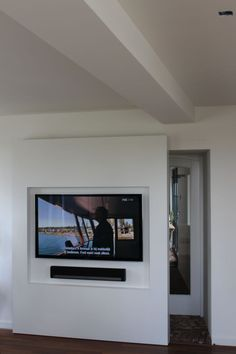 Image result for sliding wall with tv