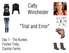 """""""Catty Winchester Worlds Colliding (Supernatural) 8.14 """"Trial and Error"""""""" by mysticfalls1997 ❤ liked on Polyvore featuring ISABEL BENENATO, Current/Elliott, Hailey Jeans Co. and LIZZY"""