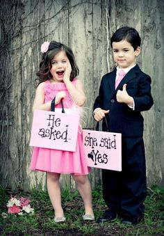 A miniature version of the bride and groom.