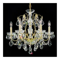 """Schonbek Century 21"""" Wide Aurelia Gold Crystal Chandelier - Style # 28225"""