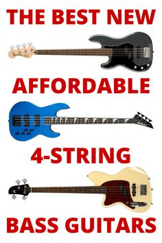 These are the best brand new 4-string bass guitars that are high quality and inexpensive - Newest basses for sale right now - Affordable basses #BassGuitars #AffordableBass #BestBassGuitars Bass Guitar Scales, Play Guitar Chords, Learn Bass Guitar, Acoustic Bass Guitar, Bass Guitar Lessons, Guitar Lessons For Beginners, Guitar Tips, Guitar Songs, Bass Guitars