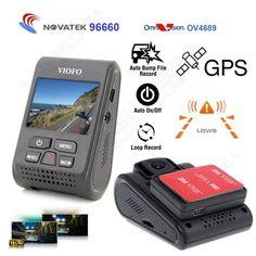"""무료 선박! 원래 VIOFO A119 2.0 """"LCD 커패시터 Novatek 96660 HD 2 천개 1440 마력 자동차 대시 비디오 레코더 DVR 옵션 GPS CPL 필터"""