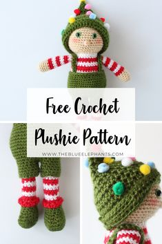 Ollie the Elf is mischevious and fun, and he loves CHristmas! Make this cute Elf toy yourlsef as a decoration, toy or great gift for kids! Plushie Patterns, Crochet Patterns Amigurumi, Stuffed Toys Patterns, Crochet Dolls, Crochet Yarn, Free Crochet, Cat Amigurumi, Amigurumi For Beginners, Crochet Patterns For Beginners