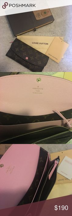 Lv wallet pink botton Price reflects authority , comes with box and dust bag. High quality wallet Bags Wallets