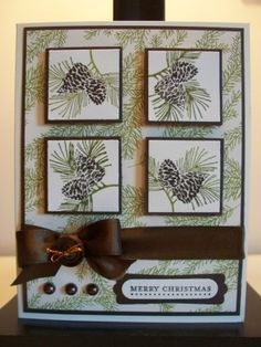 This stamp set is Autumn Days (retired) but is very similar to Watercolor Winter in this year's holiday catalog.