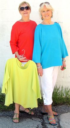 Color Me Cotton Boat Neck Top - Bora Bora or Cardinal