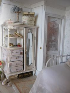 Shabby chic doll house furniture.