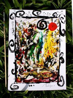 stampa digitale ritoccata a mano 21X30 cm. quadro arte dipinto astratto moderno arredamento saverio filioli di SaverioFilioliArt su Etsy