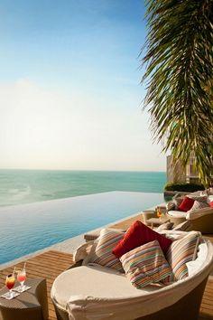 This is the Vue Beach Club near Seminyak   Bali