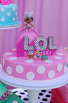 tarta de cumpleanos un piso tema muneca lol (1)