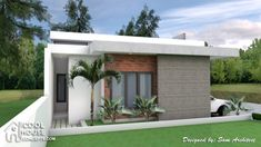 Sketchup House Modeling Idea From Photo – SamPhoas Plan – Home decoration ideas and garde ideas Best Small House Designs, Small Cottage Designs, Minimalist House Design, Minimalist Home, Modern House Design, Modern Bungalow House, Bungalow House Plans, Single Storey House Plans, Different Types Of Houses
