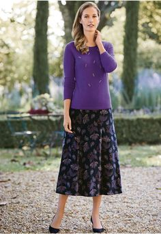 Decorated with a stunning Art Deco-inspired design of metallic and crystal beads, this Italian-made fully fashioned crew neck knit is finished with tubular hems. Crystal Beads, Jumper, Casual Outfits, January 10, Luxury, Knitting, Long Sleeve, Pretty, Skirts