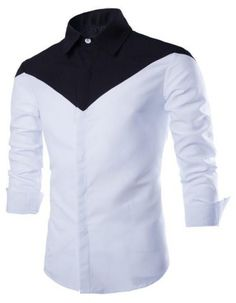 New Men Shirt 2015 Fashion Design Patchwork Mens Slim Fit Long Sleeve Dress Shirts Casual Brand Chemise Homme Camisa Masculina African Wear Styles For Men, African Shirts For Men, African Dresses Men, African Tops, African Clothing For Men, African Style, Indian Men Fashion, New Mens Fashion, Fashion Black