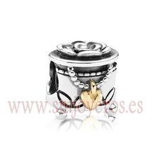 Charm Pandora de plata de ley y oro 14k. Joyero  REFERENCIA: PA791019  Fabricante: Pandora