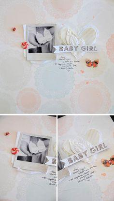 Baby Girl Layout | swissgirlDesigns