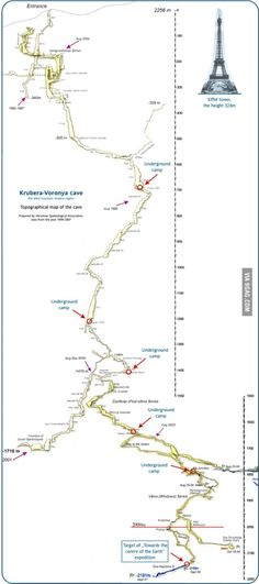 """The world's deepest mapped cave. """"It takes over a month to reach the bottom."""""""