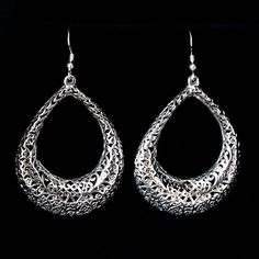 Extra Large Silver Earrings Raquel Long Earrings Beautiful