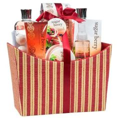 Sugar Berry Spa Bath Gift Set in a Red/Tan Tapestry Fabric Plush Box  It is easy to find great gifts for women under $50 when you know here to look.  I have found so many cool, trendy and unique gift ideas for her online.   You can find Home décor gifts, beauty gifts, jewelry gift ideas and fashion gifts all for under and under fifty dollars.  In addition to being adorable these cool gifts under $50 Dollars for her are popular, charming and cute!