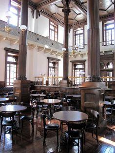 Cafe Bar, Cafe Restaurant, Restaurant Design, Classic Interior, Cafe Interior, Interior Design, Public Nyc, Japanese Modern, Retro Design