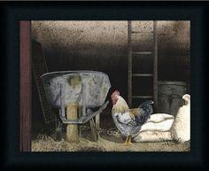 Chicken Feed by Billy Jacobs - Art Print Framed & Unframed at www.framedartbytilliams.com