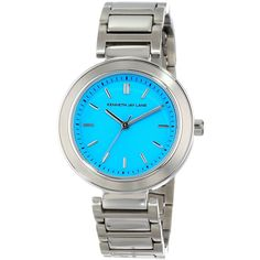 Kenneth Jay Lane Blue Dial Stainless Steel Watch $138