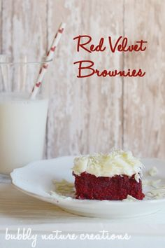 Red Velvet Brownies!  Make these for that special someone! - Click image to find more  Pinterest pins
