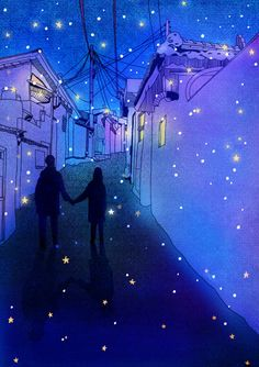 """sci-universe: """" I really love these starry illustrations by Hajin Bae. """""""