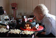 Cars birthday party sweet table - dessertbord BILER bursdag