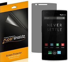 [2 Pack] SUPERSHIELDZ- Privacy Anti-Spy Screen Protector Shield For OnePlus One   Lifetime Replacements Warranty - Retail Packaging * Check out the image by visiting the link.