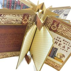 Embrace Serendipity: A 'Mister' Dimensional Pop Up Star Mini Album With Tutorial Mini Albums, Painting Canvas Crafts, Duck Tape Crafts, Stick Crafts, Origami Ball, Origami Paper, Chicken Scratch Embroidery, Remember Day, Mini Album Tutorial