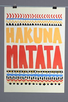 Poster Hakuna Matata
