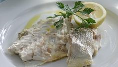Rosemary Sea bass, served with baby garlic and sea salt roast potatoes and slow roasted green beans with sage.